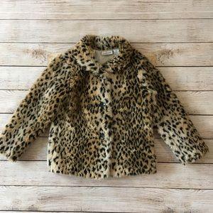 Other - Girls faux leopard print jacket